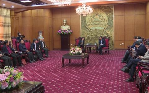 UBND tỉnh tiếp đoàn giám sát của Ủy ban Thường vụ Quốc hội