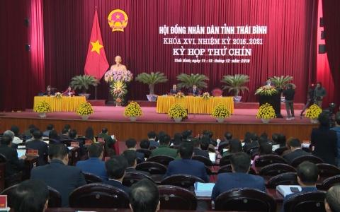 Khai mạc Kỳ họp thứ 9 HĐND tỉnh Thái Bình khóa XVI