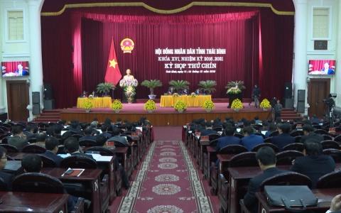 Phiên chất vấn và trả lời chất vấn tại kỳ họp thứ 9, HĐND tỉnh khóa XVI