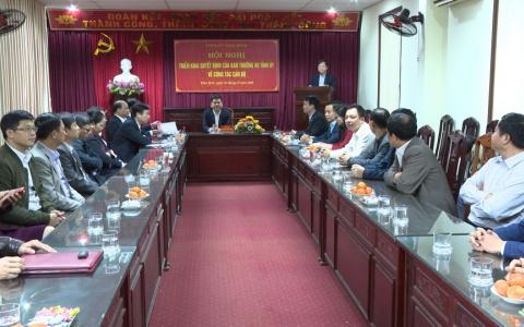 Triển khai Quyết định của Ban Thường vụ Tỉnh ủy về công tác cán bộ