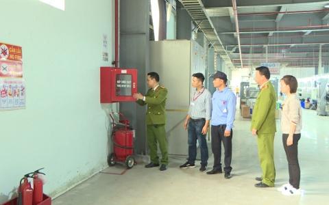 Tăng cường kiểm tra công tác phòng cháy chữa cháy tại các doanh nghiệp sản xuất