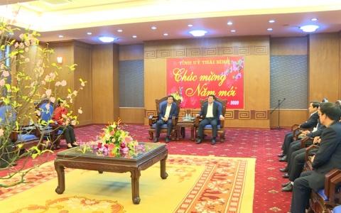 Tổng thư ký Quốc hội, Chủ nhiệm văn phòng Quốc hội Nguyễn Hạnh Phúc thăm và chúc Tết Tỉnh ủy Thái Bình