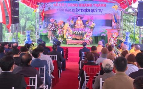 Khánh thành ngôi bảo điện chùa Thiên Quý