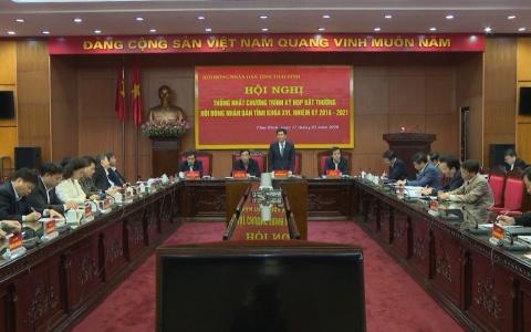 Thống nhất chương trình kỳ họp bất thường HĐND tỉnh Thái Bình khóa XVI