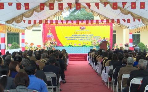 Đảng bộ xã Vũ Trung kỷ niệm 90 năm ngày thành lập Đảng