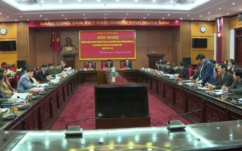 Thường trực Tỉnh ủy làm việc với Đảng ủy khối các cơ quan tỉnh và Đảng ủy khối doanh nghiệp tỉnh