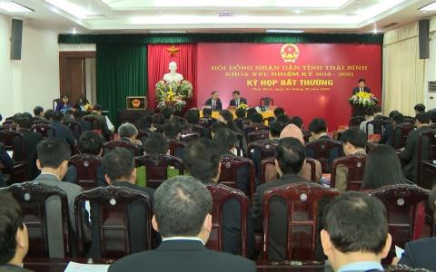 Kỳ họp bất thường HĐND tỉnh Thái Bình khóa XVI nhiệm kỳ 2016-2021