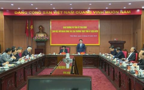 Tăng cường hợp tác giữa 2 tỉnh Thái Bình và Điện Biên