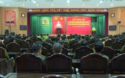 Công an tỉnh Thái Bình điều động 178 cán bộ đi cơ sở
