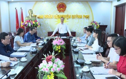 Kiểm tra công tác phòng dịch Covid-19 tại huyện Quỳnh Phụ