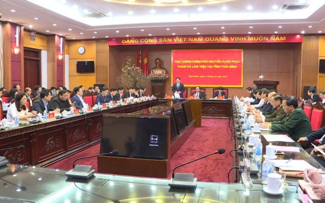Thủ tướng Chính phủ Nguyễn Xuân Phúc làm việc với Ban Chấp hành Đảng bộ tỉnh Thái Bình mở rộng