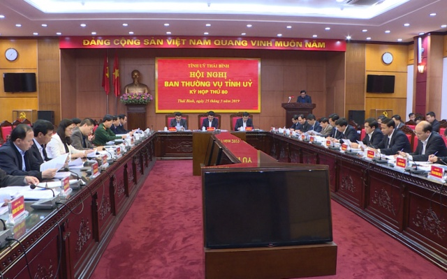 Hội nghị Ban Thường vụ Tỉnh ủy - Kỳ họp thứ 80
