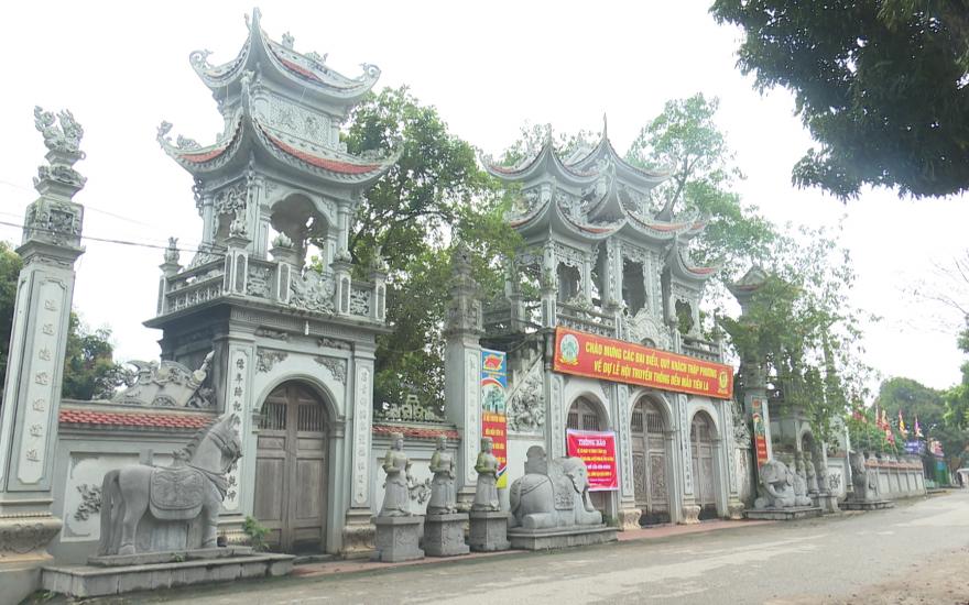 Huyện Hưng Hà tạm dừng đón khách tham quan du lịch tại các di tích