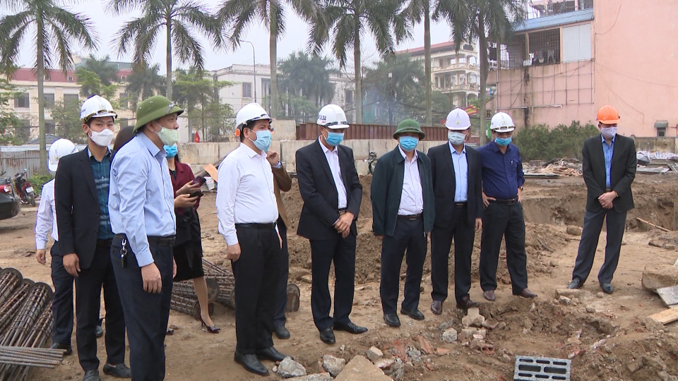 Đẩy nhanh tiến độ thi công Dự án Thư viện Khoa học tổng hợp tỉnh Thái Bình